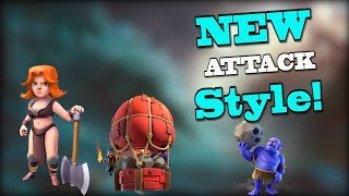 NEW ATTACK STYLE -- VALKS, SLAMMER, BOWLERS! | Clash of Clans Best Attacks TH10 3 Star