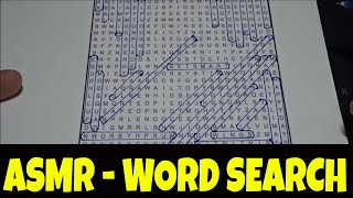 [ASMR]  Word Search | Whispered