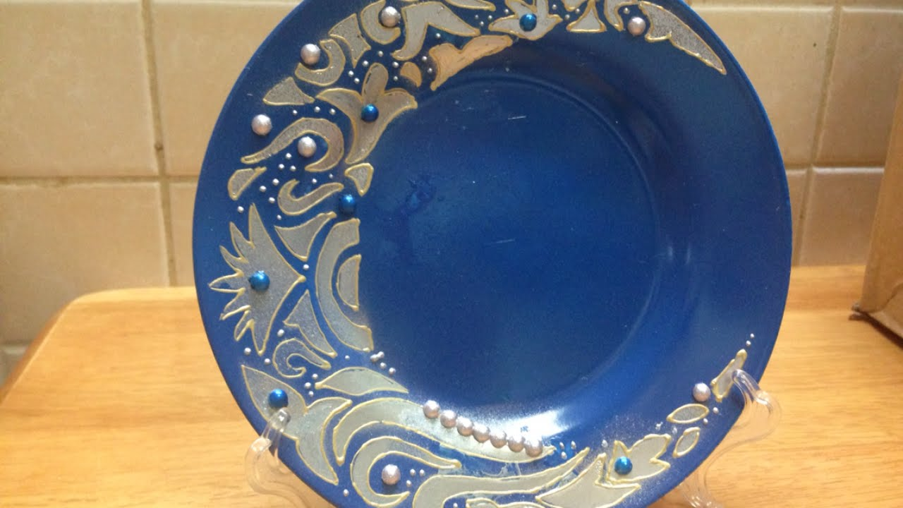 Easliy Redecorate an Old Plate - DIY Home - Guidecentral - YouTube