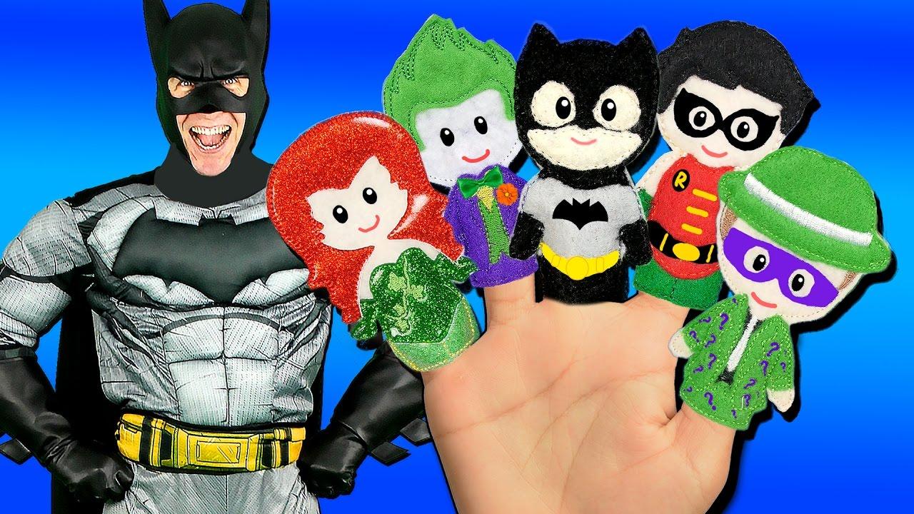 e6182f0b355 Batman Finger Family Song - Superheroes and Villains! Batman