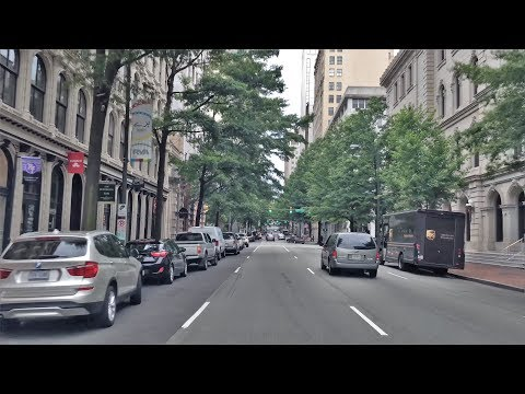 Driving Downtown - Main Street - Richmond Virginia USA