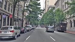 Driving Downtown - Richmond Main Street 4K - Virginia USA