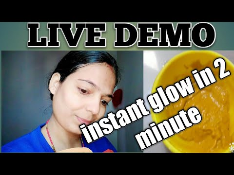 Instant glow face pack  ( glam series) best home remedies