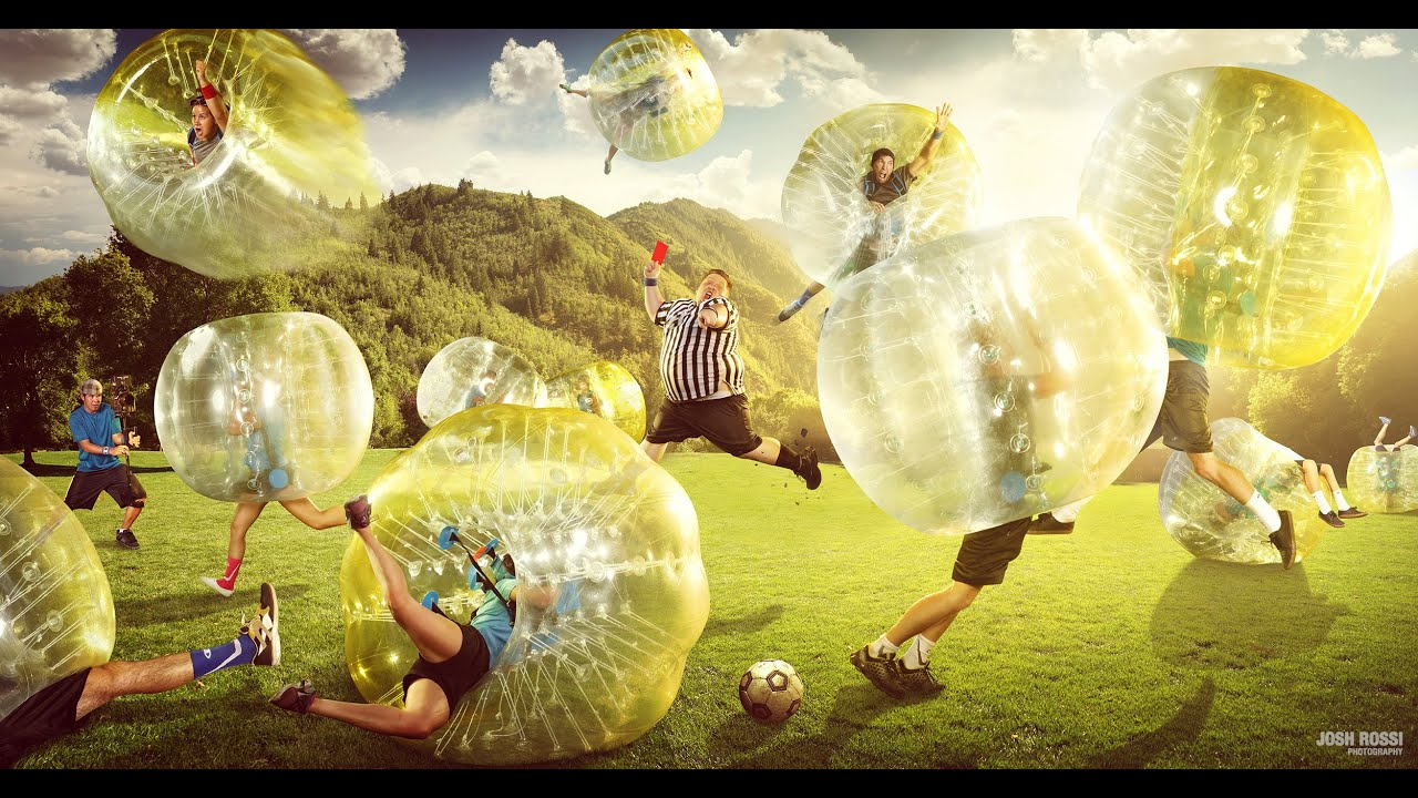 Image Result For Football Zorbing