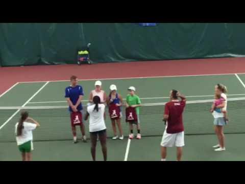 William Hopper MVP University of AL tennis camp 2016