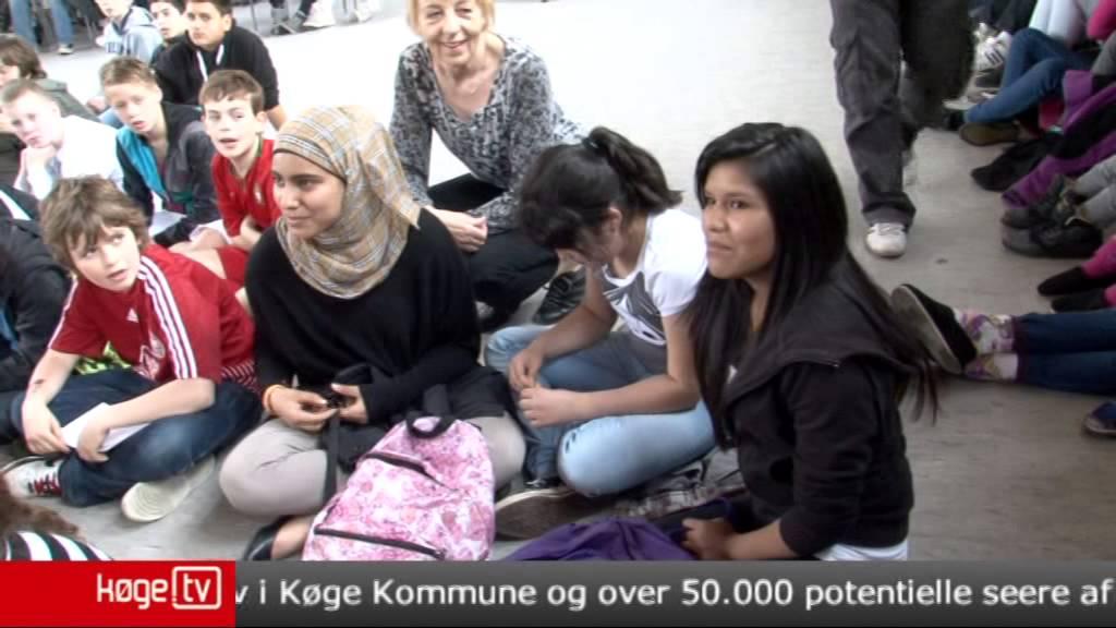 Landsholdsspilleren Søren Larsen på sct Nicolai Skole, Køge