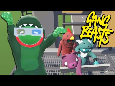 NO TALK, JUST PAIN! | Gang Beasts Online Funny Moments Part 19