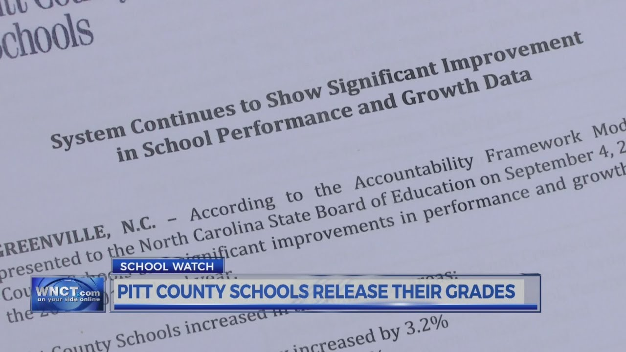 9OYS 10 PM - Pitt County Schools Release Their Grades
