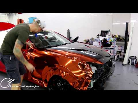Time Lapse Orange Chrome Vinyl Installation Genesis Coupe With Gloss Carbon Fiber Vinyl By ckwraps