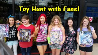 Doll Hunting with Fans | Monster High | The Zelfs |  Shopkins and More! 9-13-2014