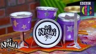 Make a Drum Kit Desk Tidy | CBBC