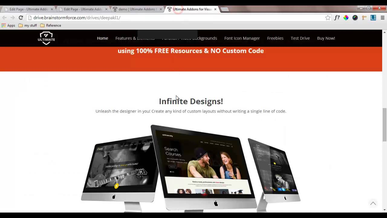 Demo Site Homepage Design - Building Blocks using Ultimate VC Addons ...