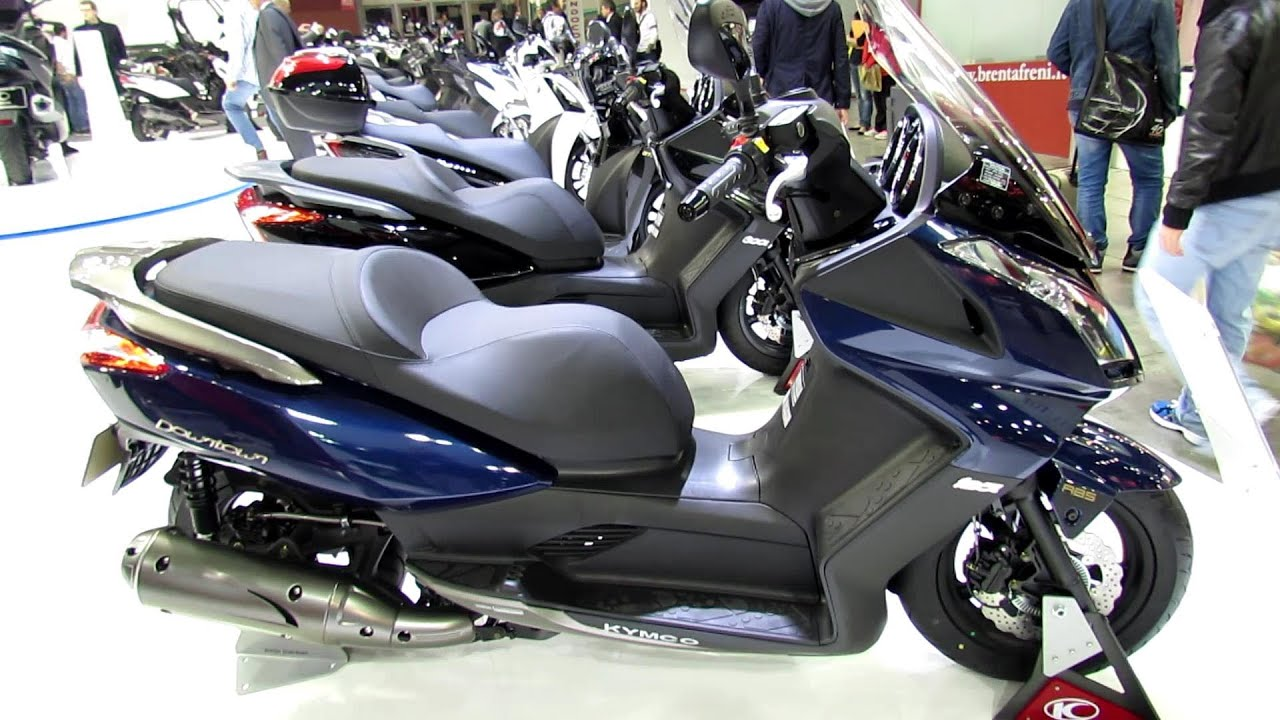 סופר 2014 Kymco Downtown 125 ABS Scooter Walkaround - 2013 EICMA Milano OH-04