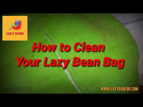 How to Clean (Artificial/PVC Leather)  Your Lazy Bean Bag Chair