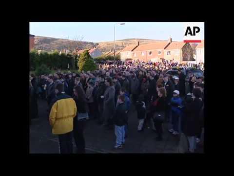 N.IRELAND: GERRY ADAMS AT FUNERAL OF RELATIVE KILLED AT NIGHTCLUB