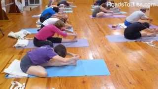 Ardha Baddha Padma Paschimottanasana with Lois Steinberg,  Certified Iyengar Yoga Teacher Advanced 2