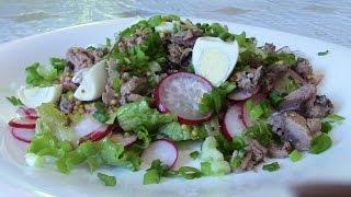 Салат весенний с тунцом Salad (Type Of Dish). Это очень вкусно!