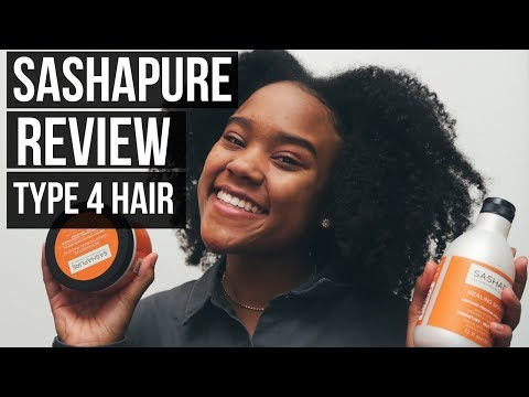My NEW favorite natural hair products?! SASHAPURE Beauty Review on Type 4 Hair