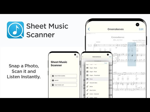 Sheet Music Scanner App Preview