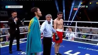 Кәсіпқой бокс. Ибрагим Ескендір (3-0-0, 3КО) - Серик Ажибаев (0-1-0)