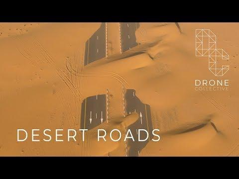 Desert Roads – Dubai, UAE – Drone