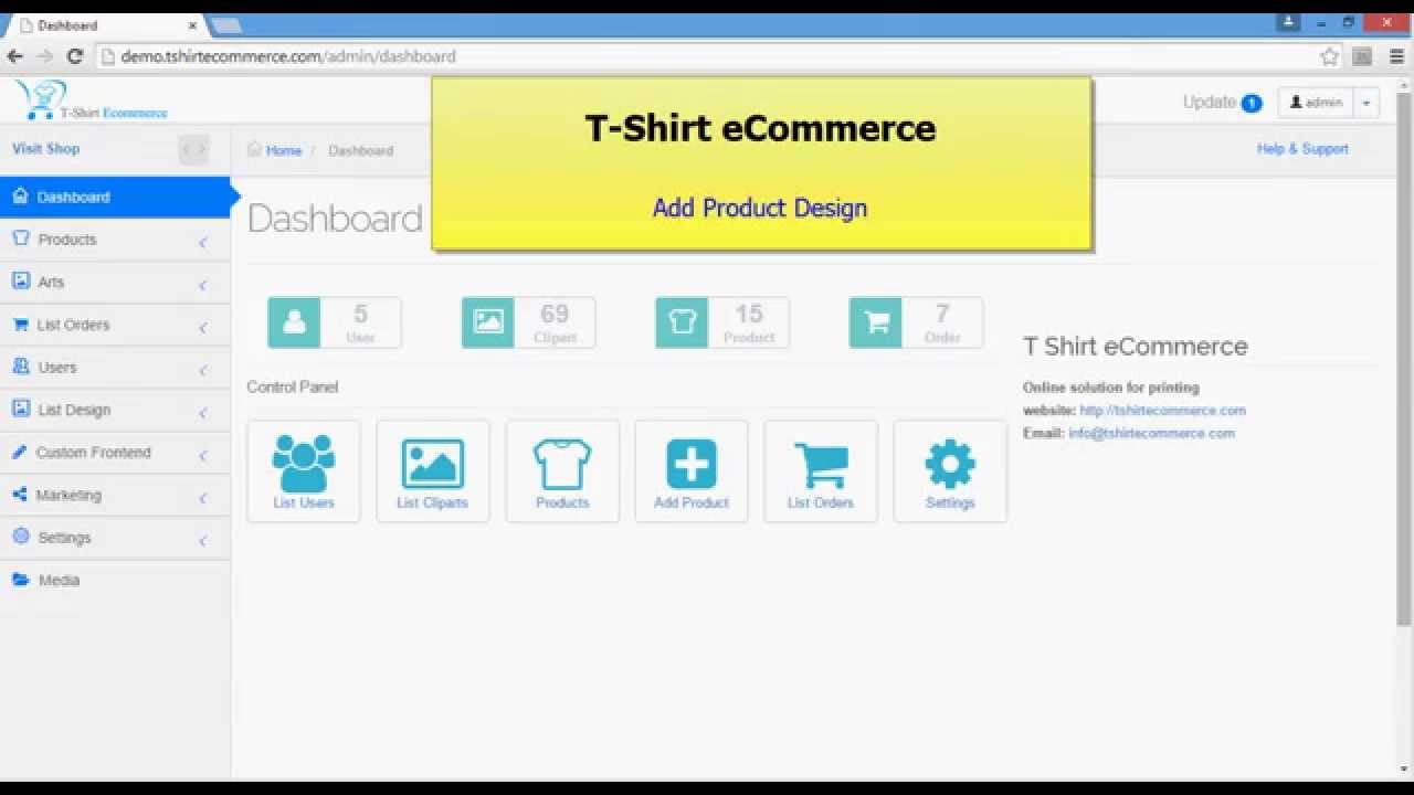 T shirt ecommerce add product design youtube for T shirt ecommerce website