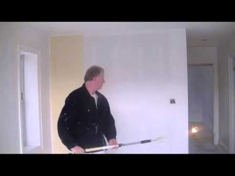 how to paint a wall properly youtube
