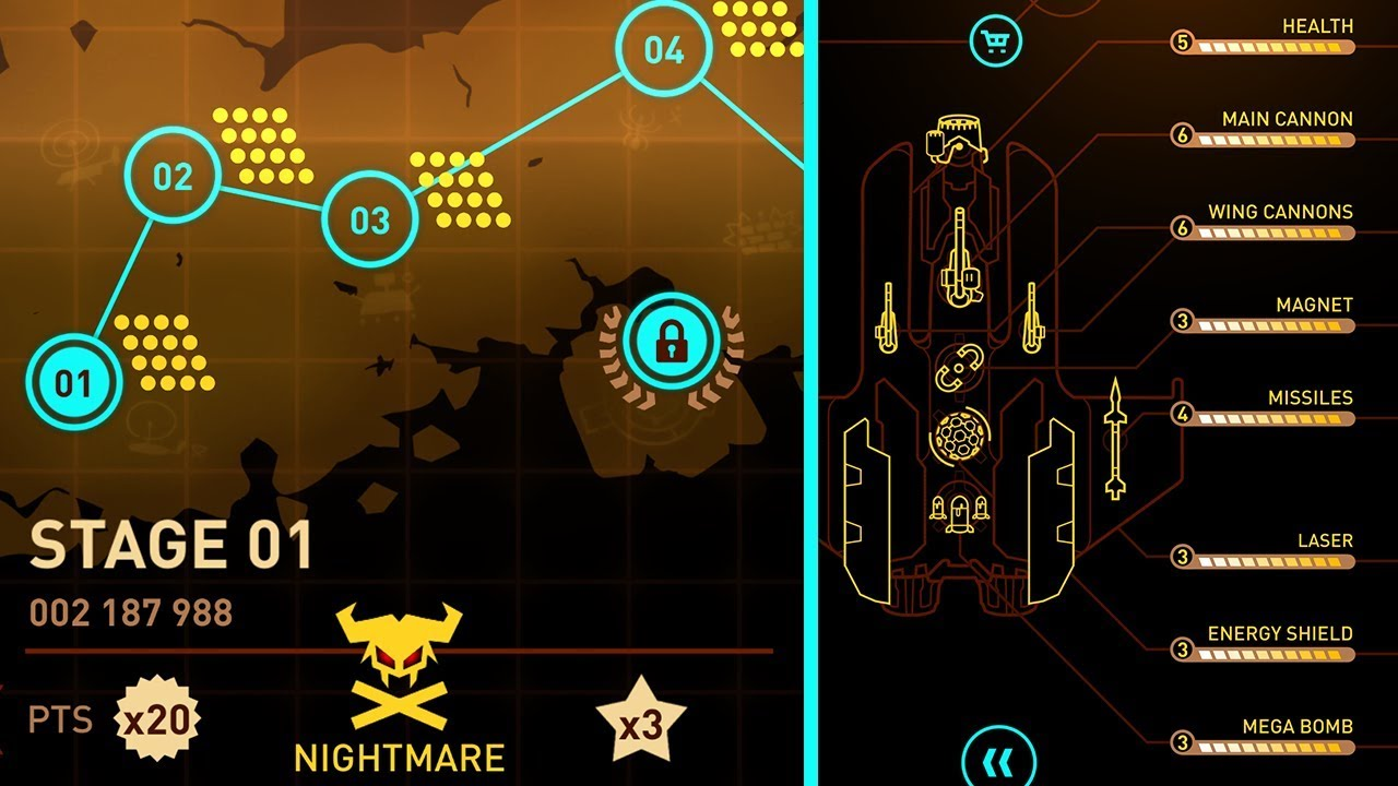 SKY FORCE RELOADED | MAXED UPGRADES STAGE 1-3 NIGHTMARE - YouTube