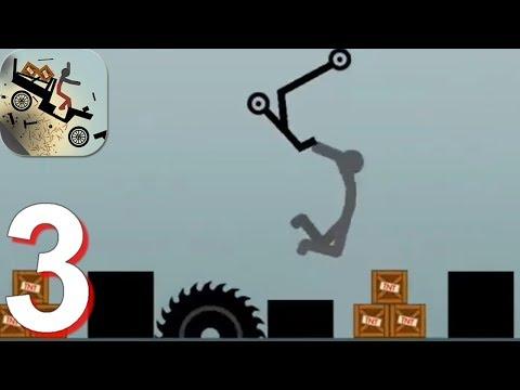 Ragdoll Dismounting Stickman - Gameplay Walkthrough Part 3 (Android)