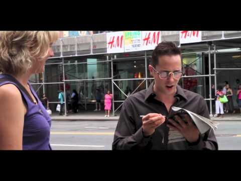 HELP ON THE STREET!! WATCH!! New York Times Crossword Puzzle is Hard, Man on Street Asks for Help