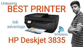 HP Deskjet ink advantage 3835 best printer unboxing and setup