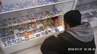 BUYING BOXES OF BASEBALL CARDS AT A MALL CARD SHOP