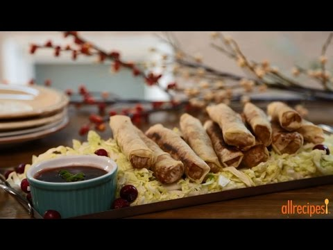 How to Make Turkey Spring Rolls with Cranberry Dipping Sauce | Turkey Recipes | Allrecipes.com