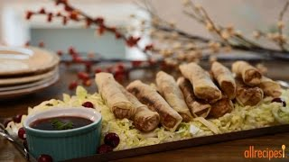 Turkey Recipes - How To Make Turkey Spring Rolls With Cranberry Dipping Sauce