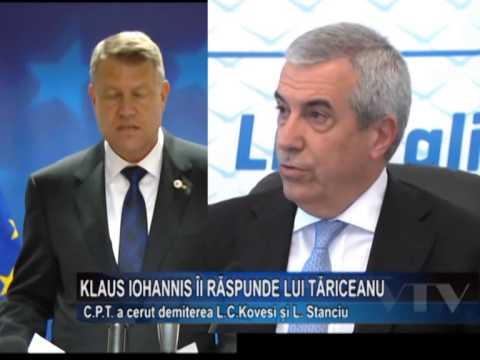 Klaus Iohannis, ii raspunde lui Tariceanu