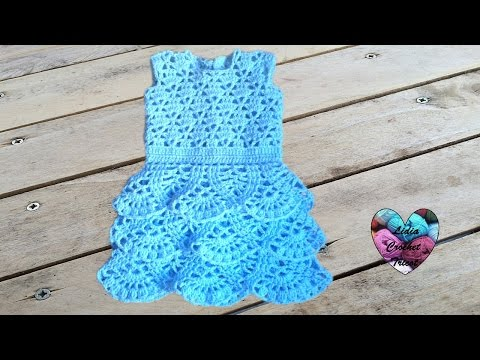 tuto crochet robe a volant b b au crochet toutes les tailles2 vestido bebe crochet2 youtube. Black Bedroom Furniture Sets. Home Design Ideas