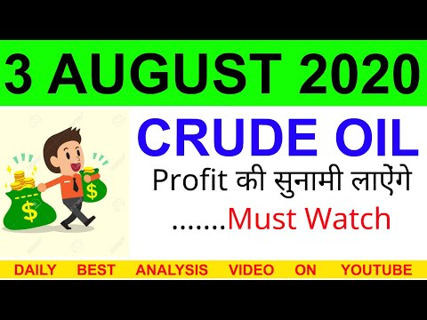 Crude oil complete analysis for 3 AUGUST 2020 | crude oil strategy | intraday strategy for crude oil
