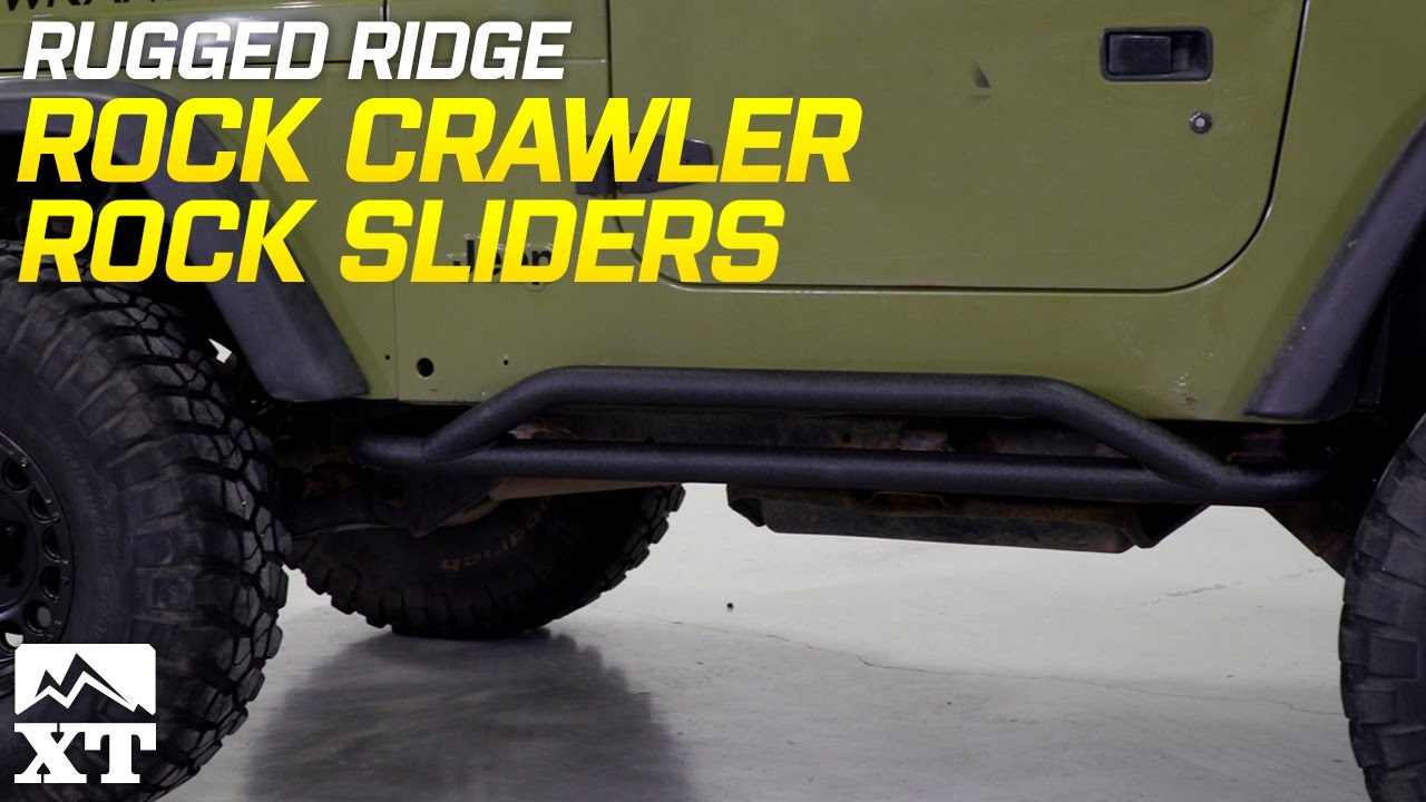Jeep Wrangler Rugged Ridge Rock Crawler Sliders 1987 2006 Yj Tj Review Install