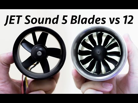 EDF Sound Comparison 12 Blade VS 5 Blade