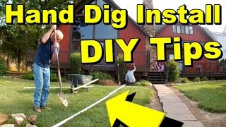 Hand Dig Drainage Tips, Sod, PVC, Sump Pump, Discharge