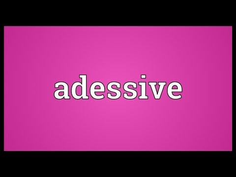 Header of adessive