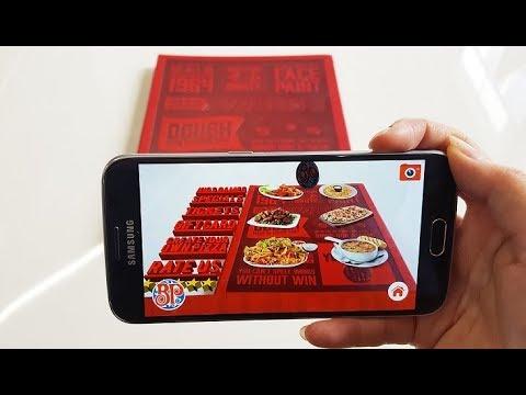 Boston Pizza Augmented Reality Menu - Tutorial Demo