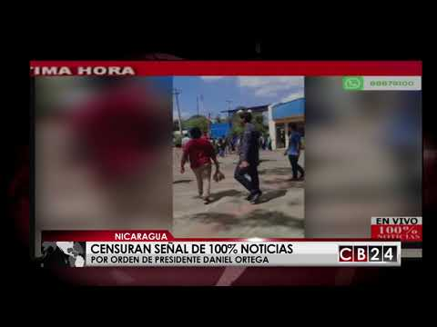 Censuran canales de televisión en Nicaragua por orden del gobierno