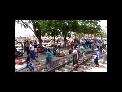 Yangon Suburban Train (Circle line) - A full round trip - Myanmar (Burma)
