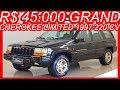 #PASTORE R$ 45.000 #Jeep Grand #Cherokee Limited 1997 Preto #4x4 AT4 aro 16 5.2 #V8 220 cv 41,5 kgfm
