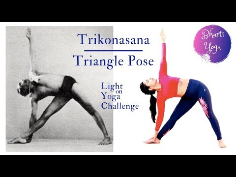 03/04 Triangle Pose (Trikonasana) | Parivrtta Trikonasana | Light on Yoga Challenge | Iyengar Yoga