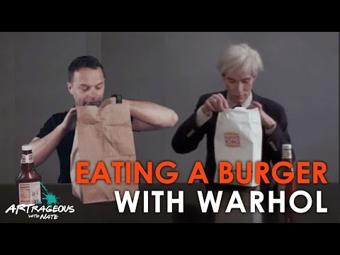 Eating a Burger with Andy Warhol