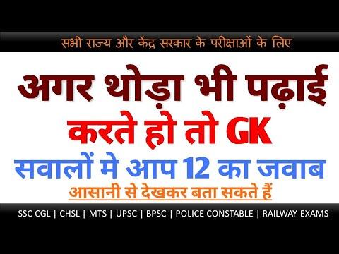 GK के 20 महत्वपूर्ण प्रश्न और उत्तर | Gk Quiz in Hindi For All Competitive  Exams
