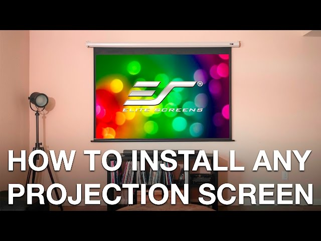 How To Perfectly Install ANY Projection Screen