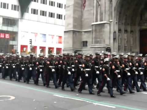 USMC March in 2013 NYC St. Patrick's Day...